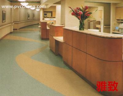 凯立龙雅致地板-雅致密实底商用卷材pvc塑胶地板