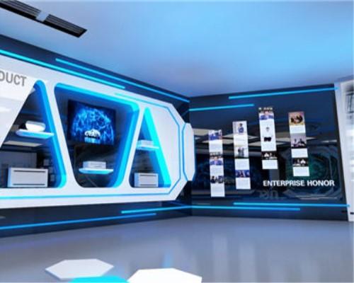大巨龙pvc地板展厅设计铺装不落伍色彩时尚大气